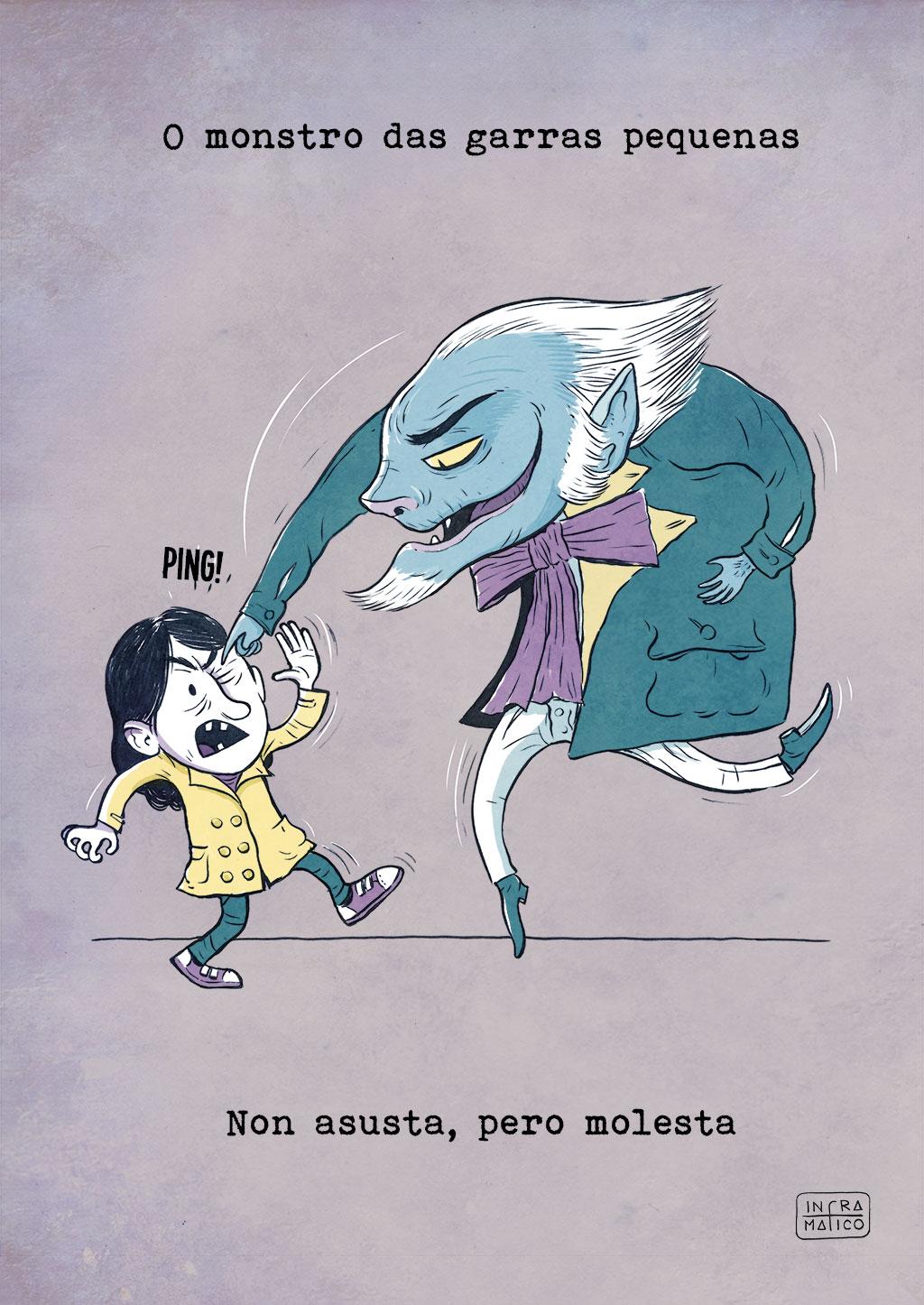 O monstro das garras pequenas